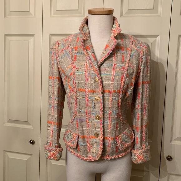 Carlisle Jackets & Blazers - Carlisle Windsor Silk Blend Short Jacket Size 10